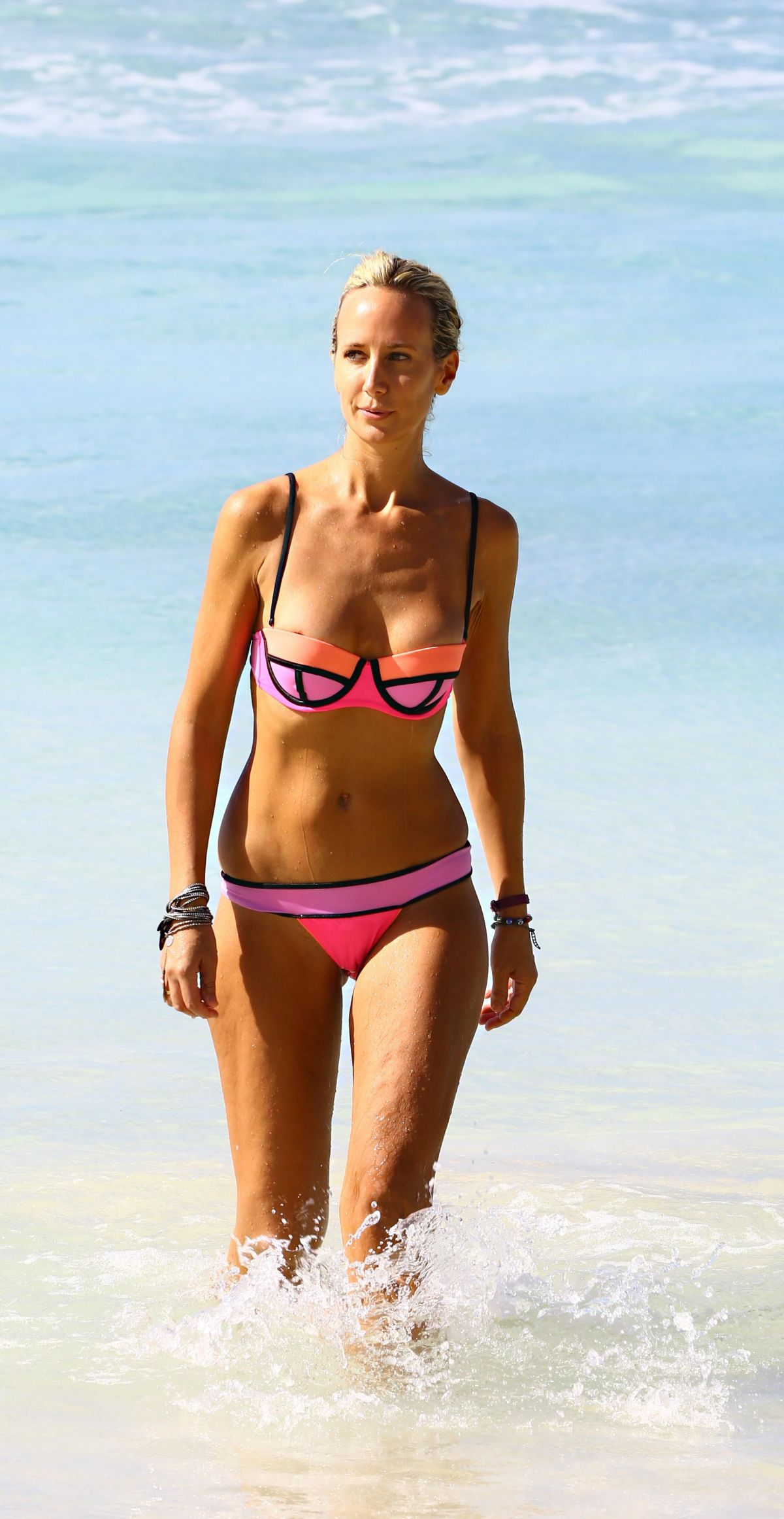 LADY VICTORIA HERVEY in Bikini on the Beach in Barbados