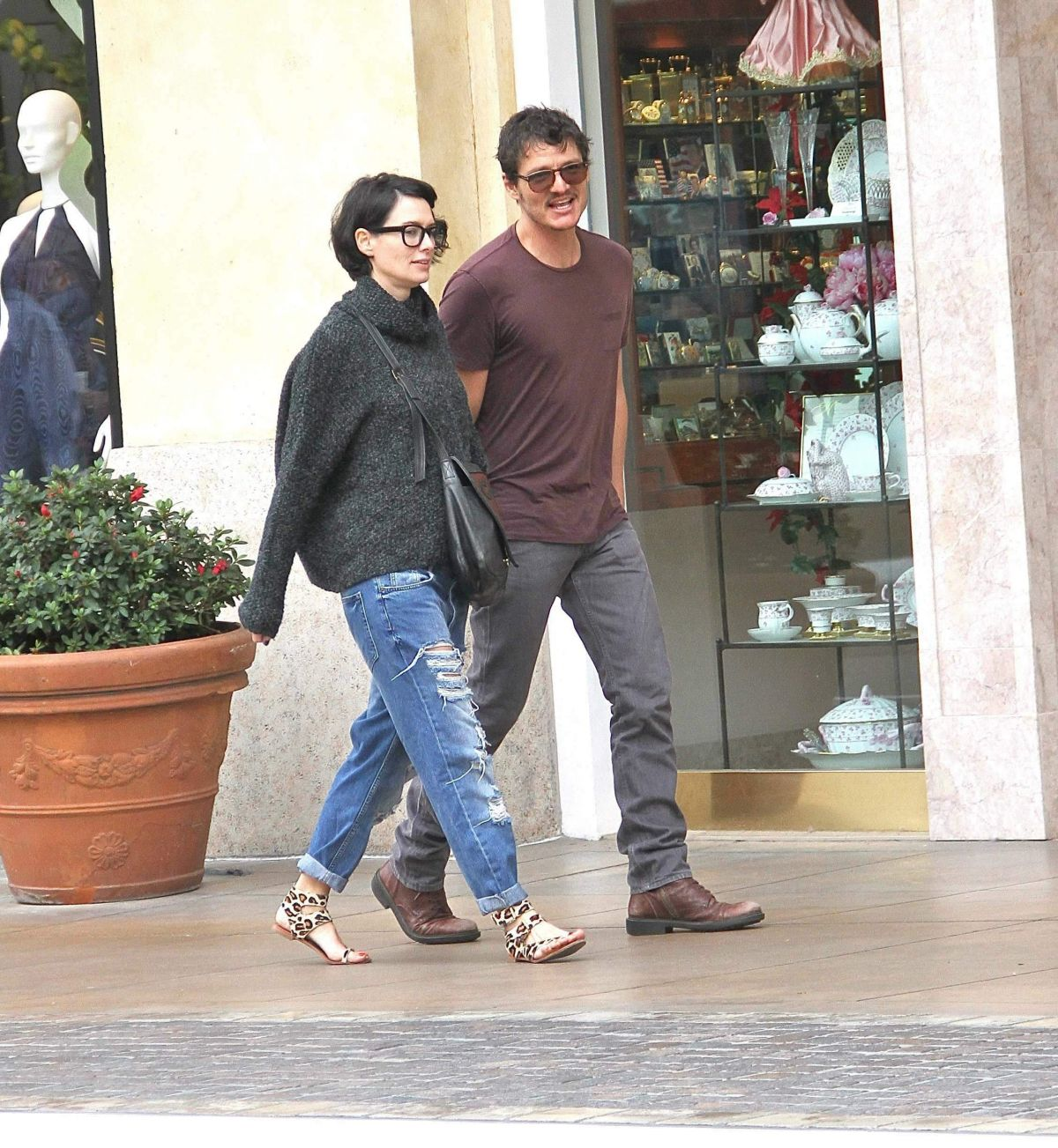 lena headey and pedro pascal out and about at the grove