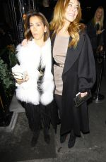 LINDSAY and ALI LOHAN at Love Magazine/Balmain Christmas Party in London