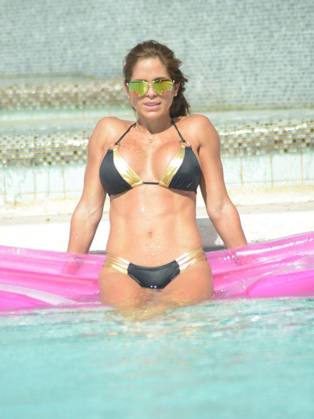MICHELLE LEWIN in Bikini at a Pool in Miami 1512