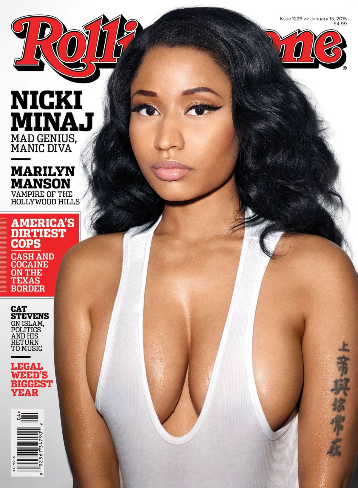 NICKI MINAJ on the Cover of Rolling Stone Magazine, January 2015 Issue