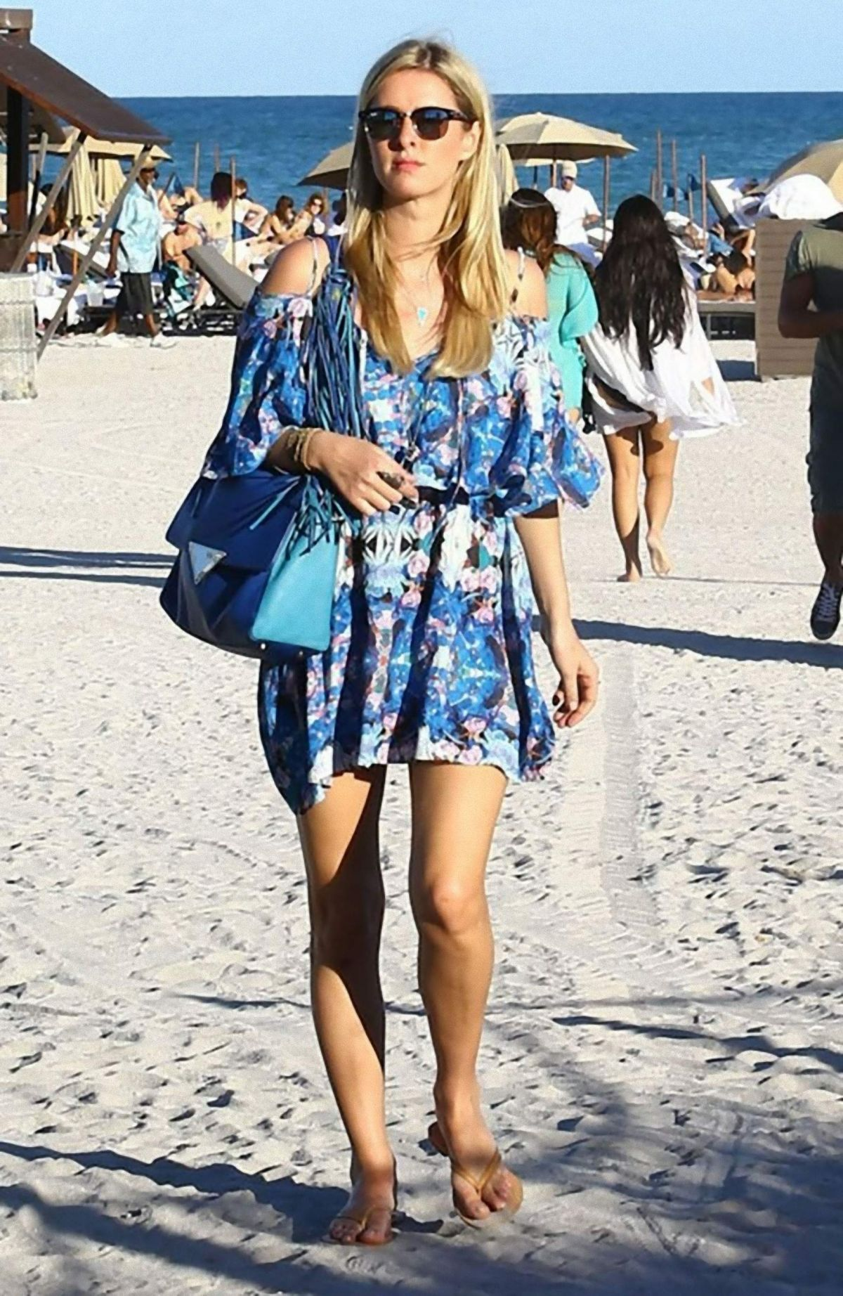 NICKY HILTON Out And About In Miami Beach