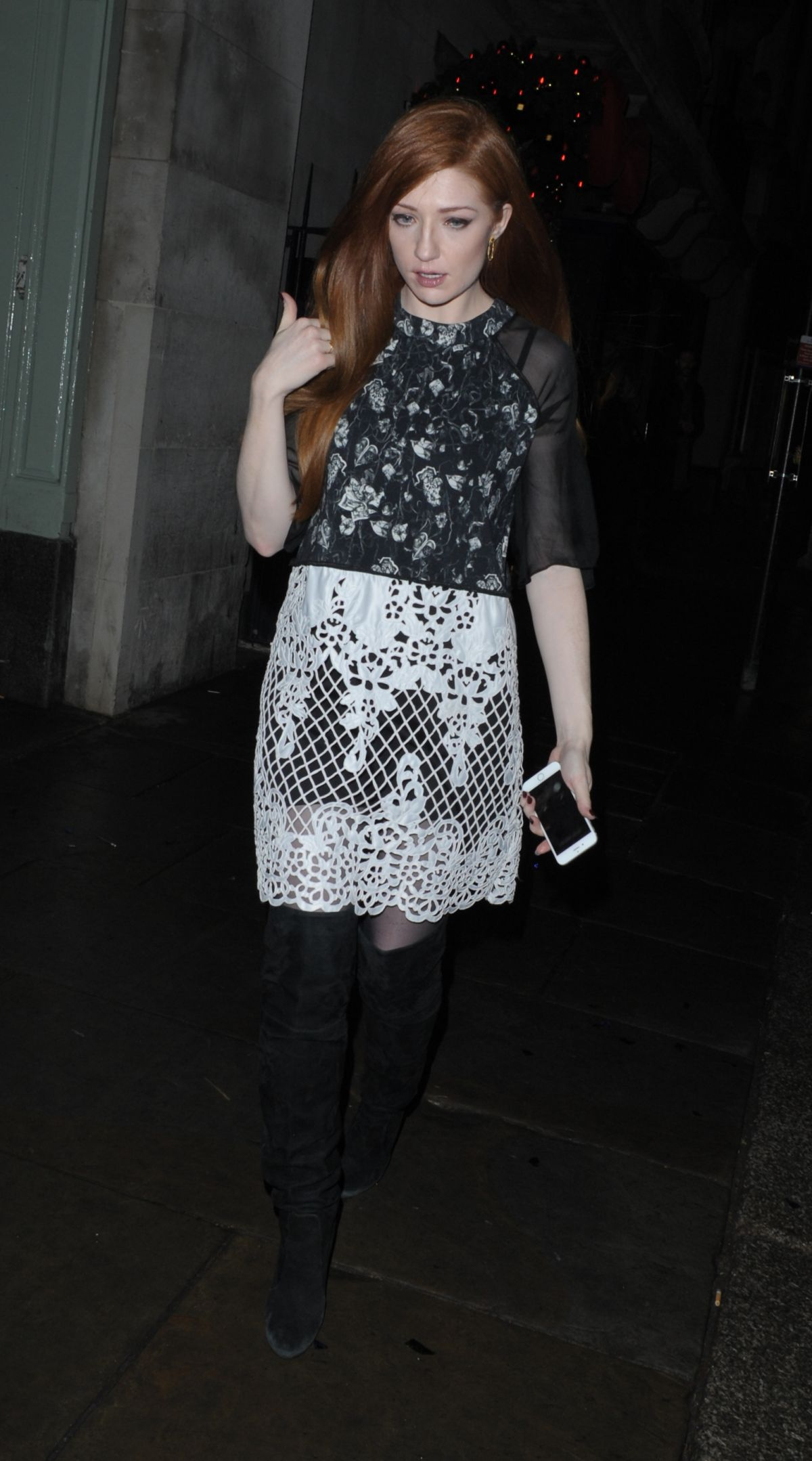 NICOLA ROBERTS at Sunday Times Style Christmas Party in London