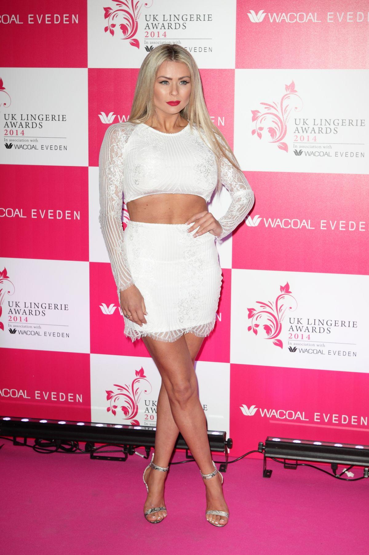 NICOLE MCLEAN at 2014 UK Lingerie Awards in London