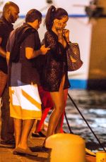 RIHANNA in Gold Bikini Out in St. Barts