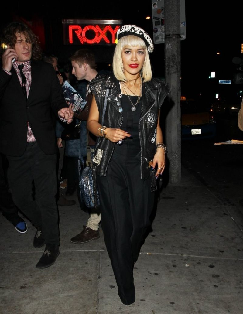 RITA ORA Leaves The Roxy in West Hollywood