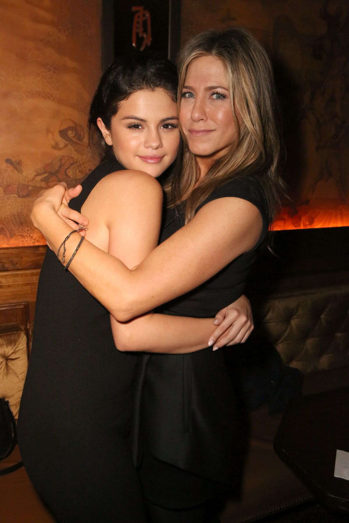 SELENA GOMEZ and JENNIFER ANISTON at Cake Party for Jennifer Aniston in Hollywood