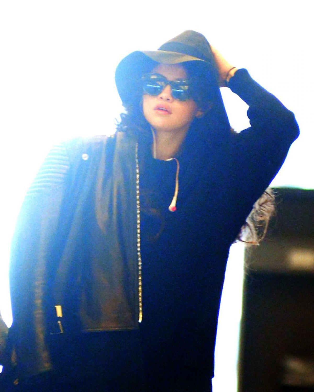 SELENA GOMEZ Arrives at JFK Airport in New York