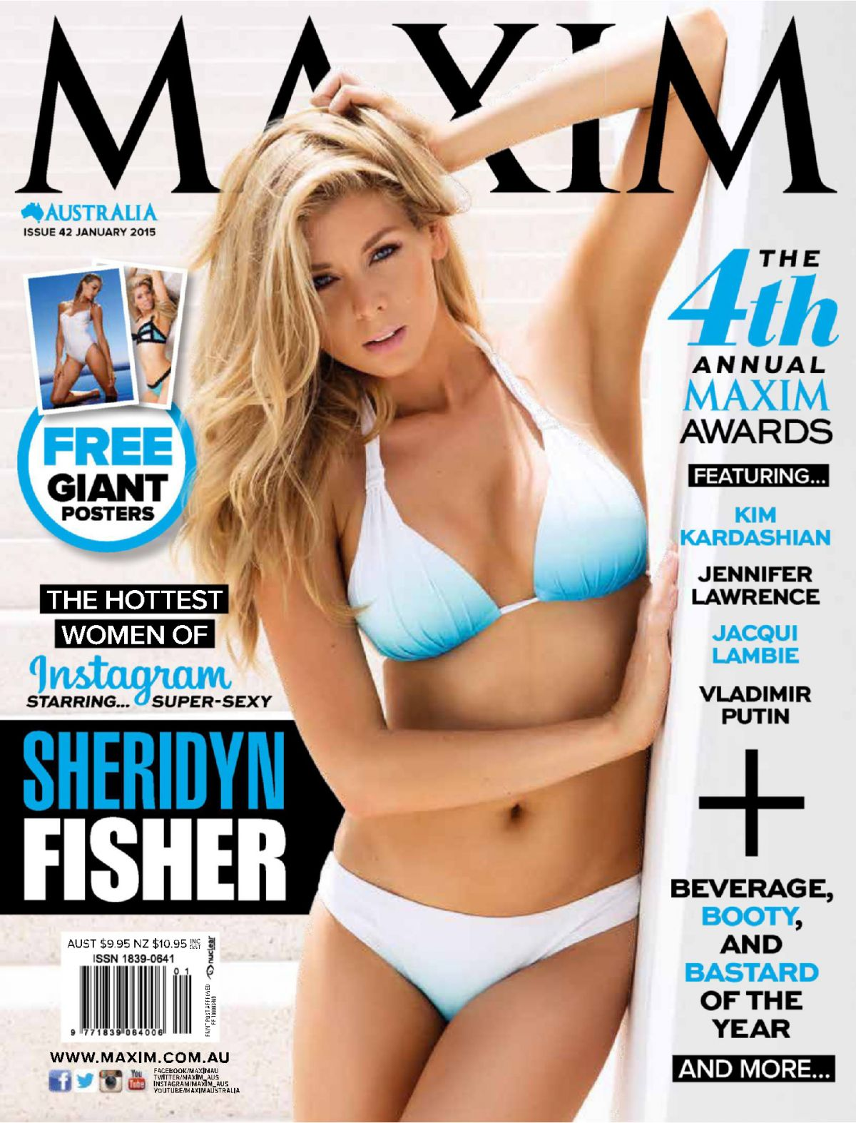 SHERIDYN FISHER in Maxim Magazine, Australia January 2015 Issue