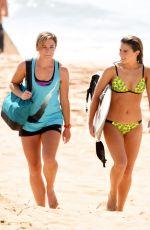 TESSA DE JOSSELIN in Bikini on the Set of Home & Away at Palm Beach in Australia