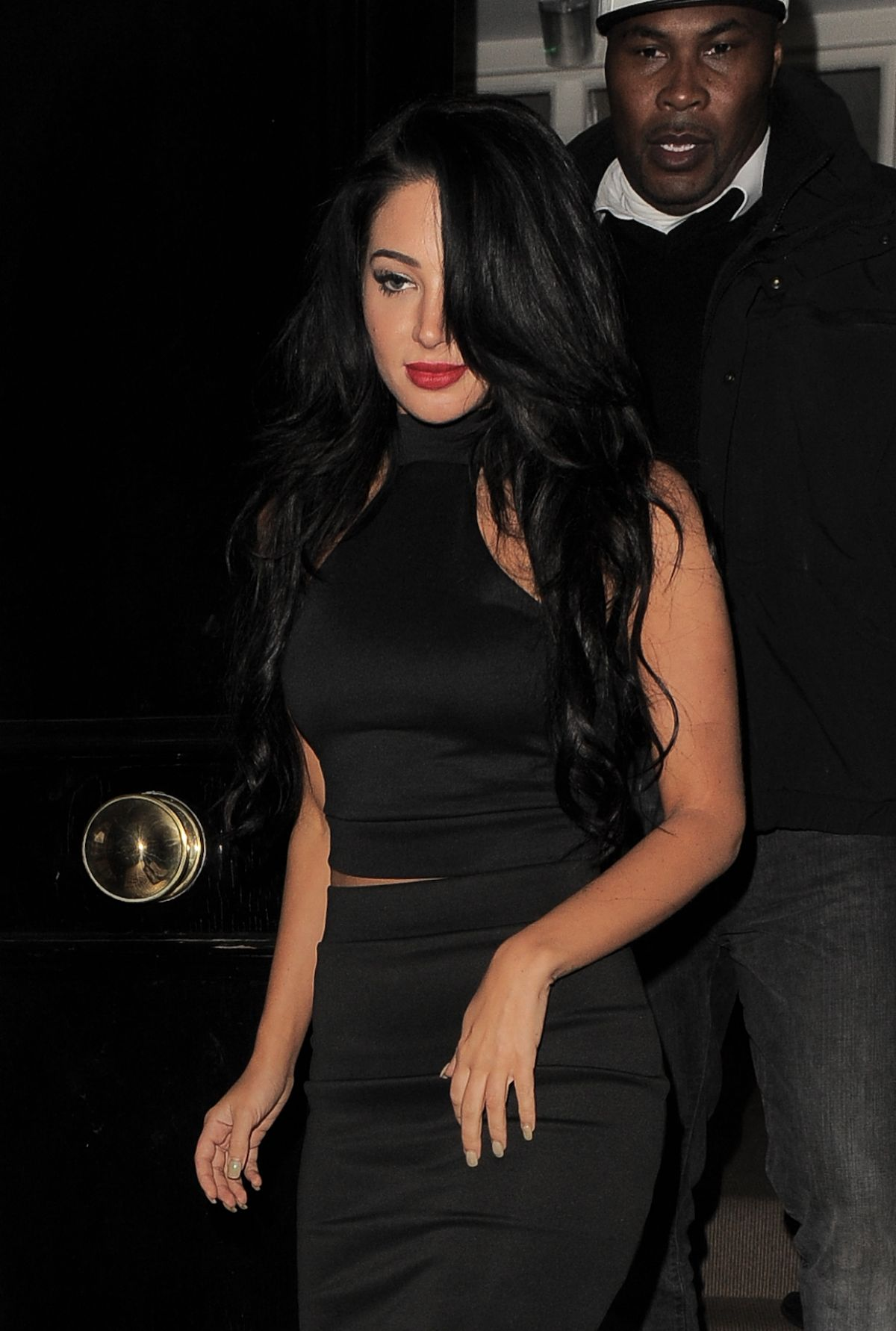 TULISA CONTOSTAVLOS Leaves Kazam Mobile Launch Party in Chelsea