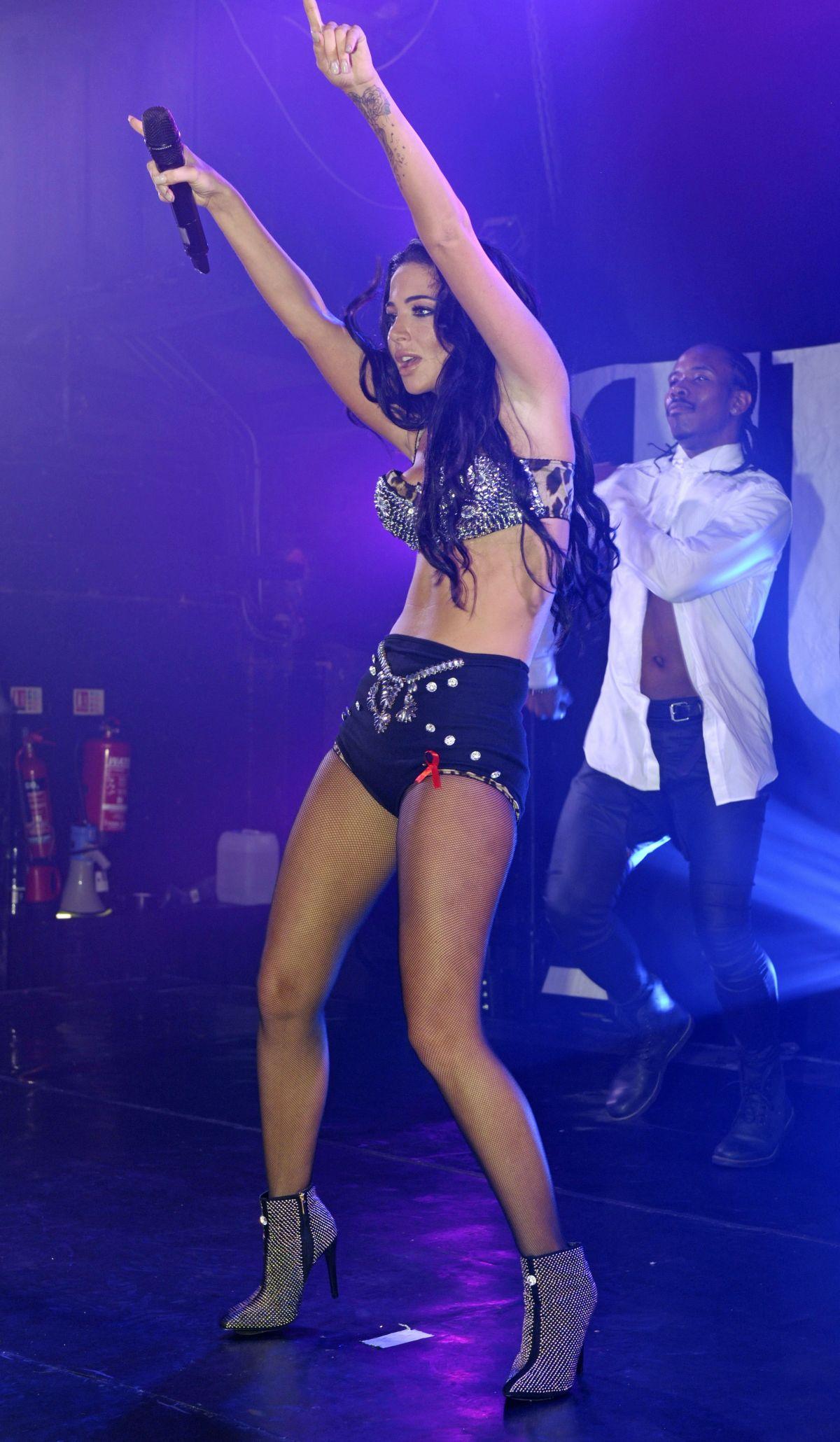 TULISA CONTOSTAVLOS Performs at G-A-Y Nightclub in London