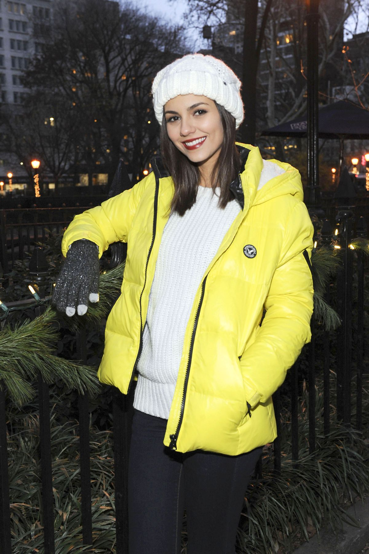 VICTORIA JUSTICE at American Eagle Outfitters #aeogetdownnyc Party Bus in New York