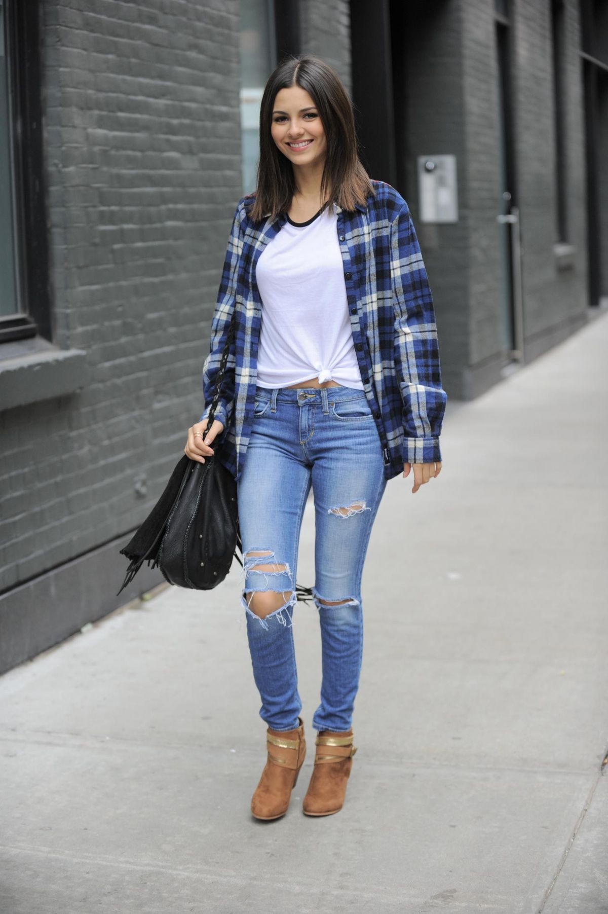 Victoria Justice In Jeans Out And About In New York