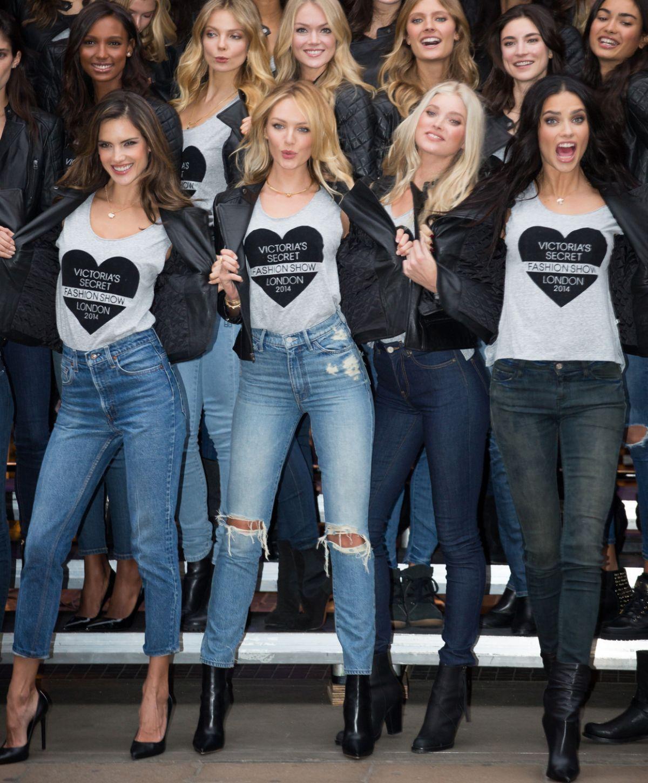 VS ANGELS at 2014 Victoria's Secret Fashion Show at Bond Street Media ...