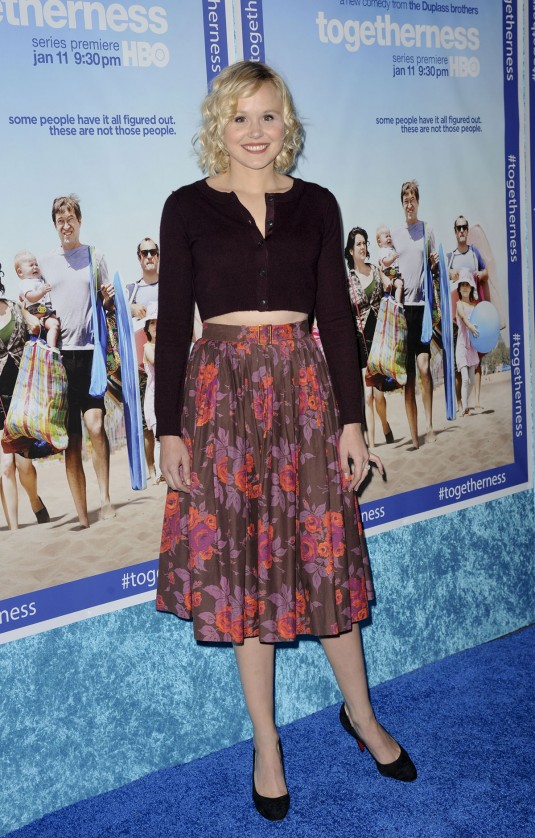 ALISON PILL at Togetherness Premiere