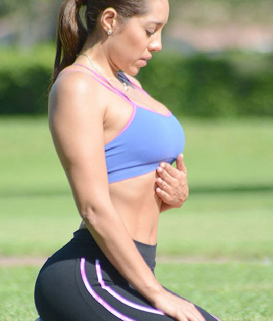 ANDREA CALLE in Sports Bra and Leggings