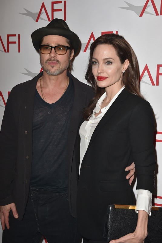 ANGELINA JOLIE and Brad Pitt at AFI Awards