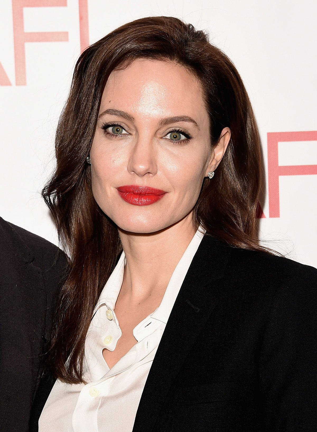 Angelina Jolie Look Using All Drugstore Makeup: ANGELINA JOLIE And Brad Pitt At 2015 AFI Awards In Los