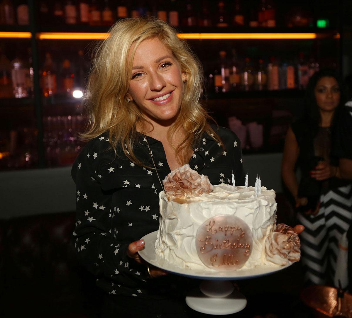 Astonishing Ellie Goulding Celebrates Her Birthday At Basement Bowl In Miami Funny Birthday Cards Online Alyptdamsfinfo