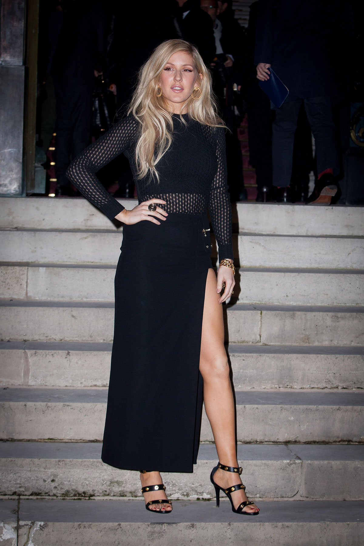 Ellie Goulding At Versace Fashion Show In Paris Hawtcelebs