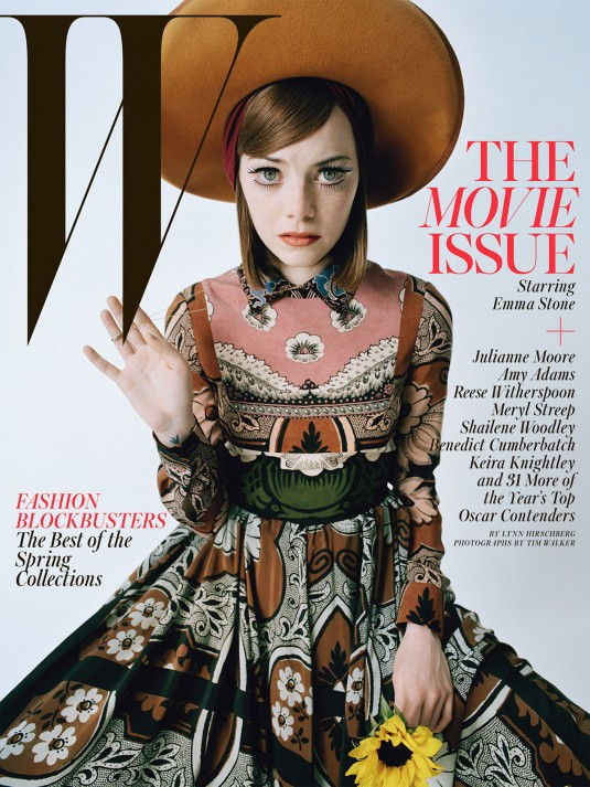 EMMA STONE in W Magazine, February 2015 Issue