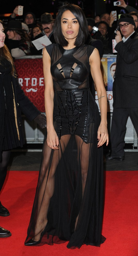 JADE EWEN at Mortdecai Premiere