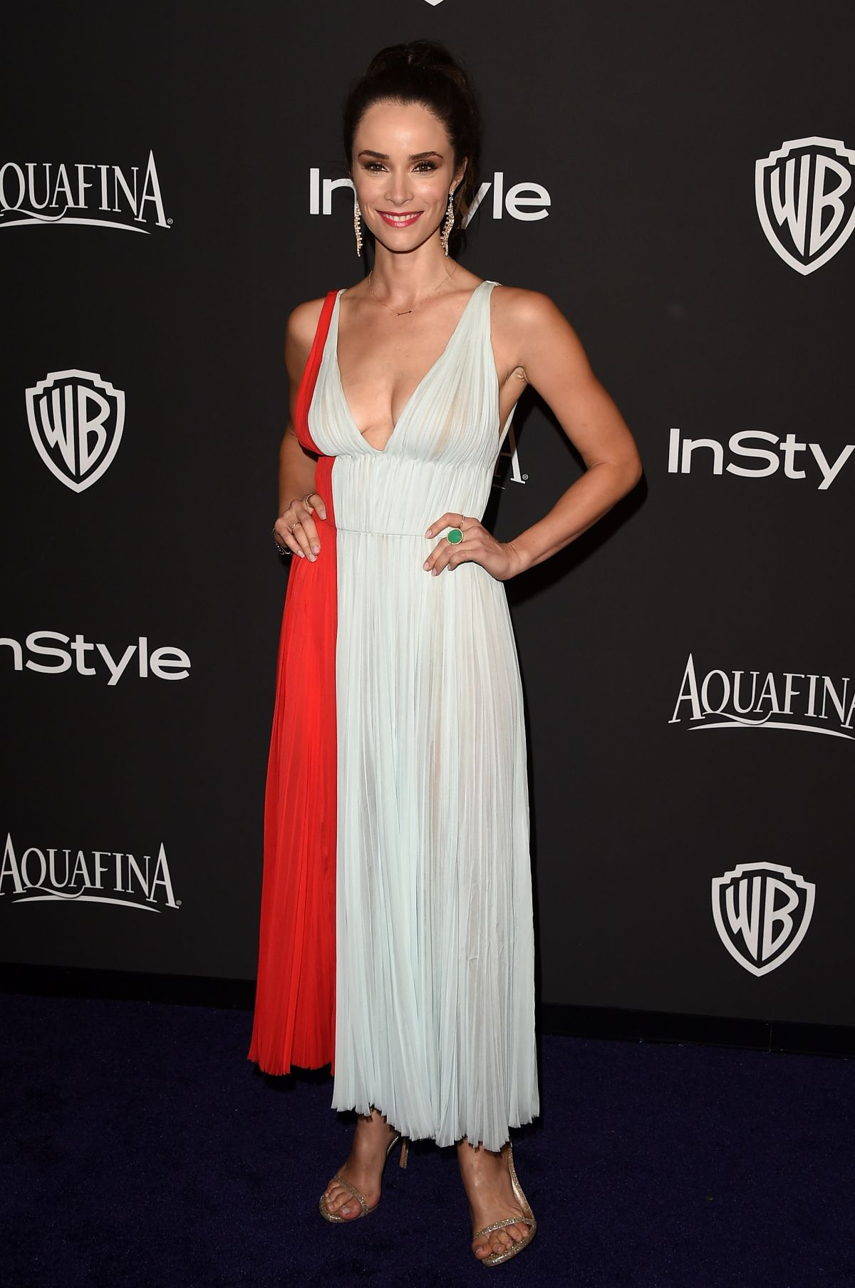 ABIGAIL SPENCER at Instyle and Warner Bros Golden Globes Party in Beverly Hills