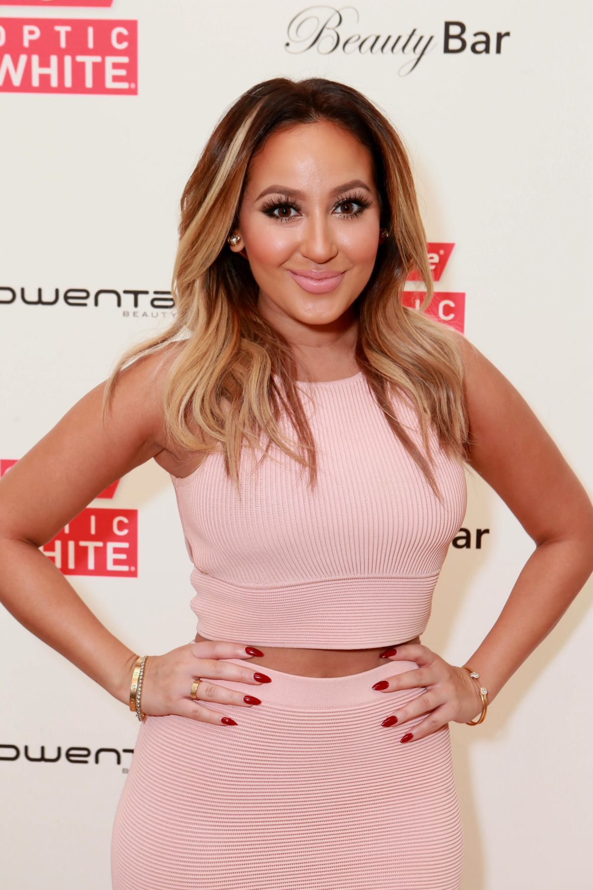 ADRIENNE BAILON at Colgate Optic White Beauty Bar in Los Angeles