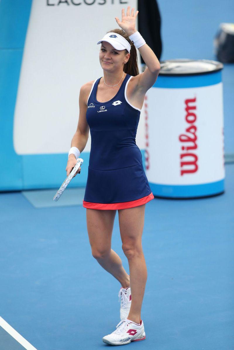 AGNIESZKA RADWANSKA at Australian Open 2015 in Melbourne