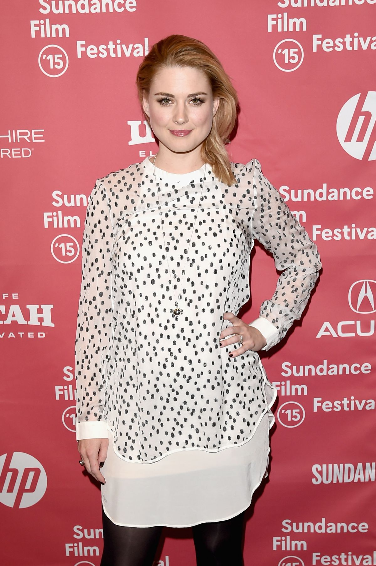 ALEXANDRA BRECKENRIDGE at Zipper Premiere at 2015 Sundance Film Festival