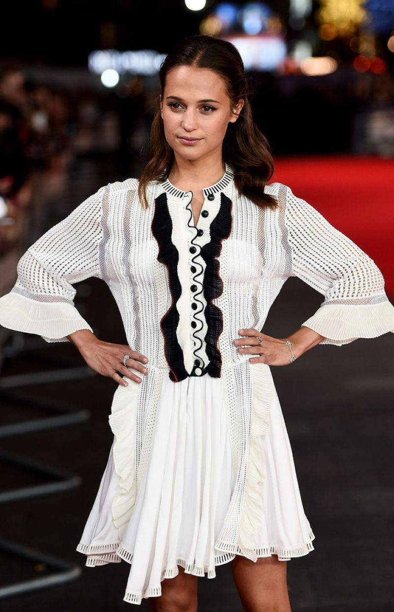 ALICIA VIKANDER at Testament of Youth Premiere in London