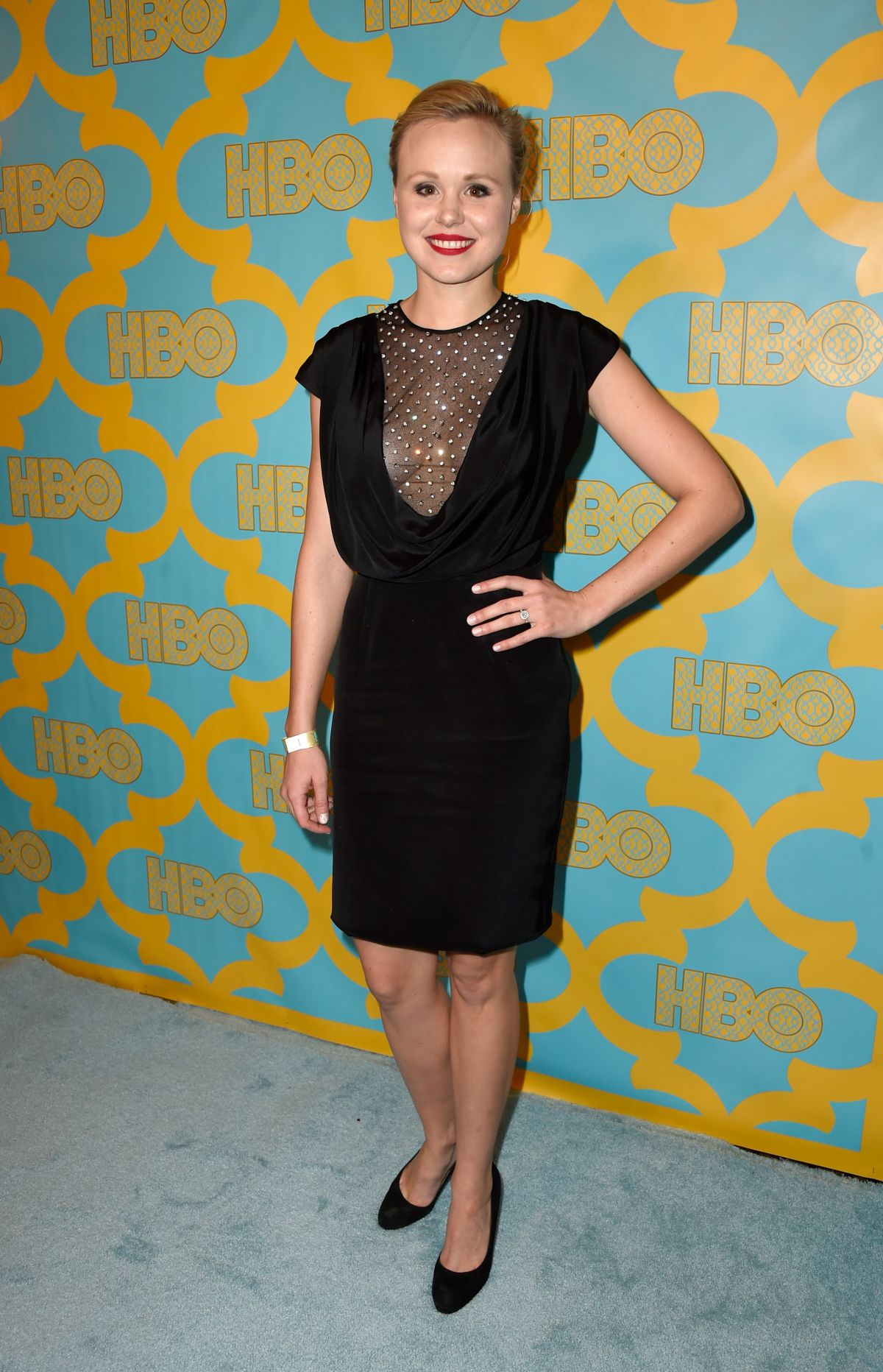 ALISON PILL at HBO Golden Globes Party in Bverly Hills