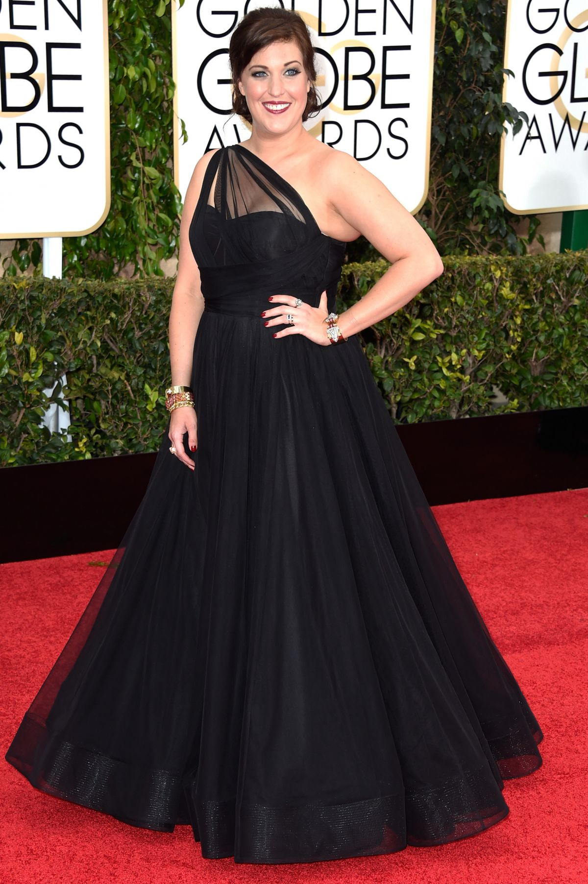 ALLISON TOLMAN at 2015 Golden Globe Awards in Beverly Hills