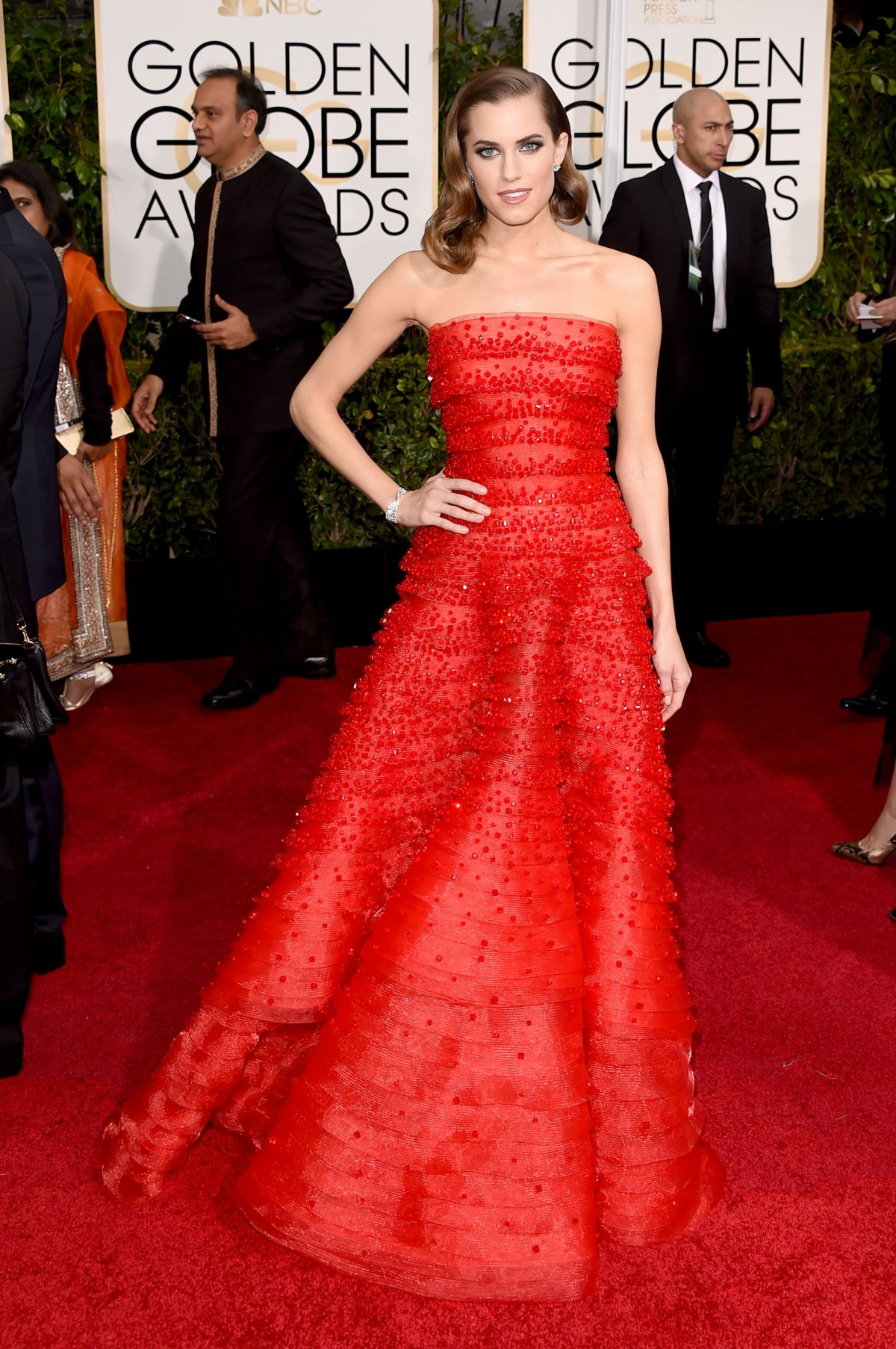 ALLISON WILLIAMS at 2015 Golden Globe Awards in Beverly Hills
