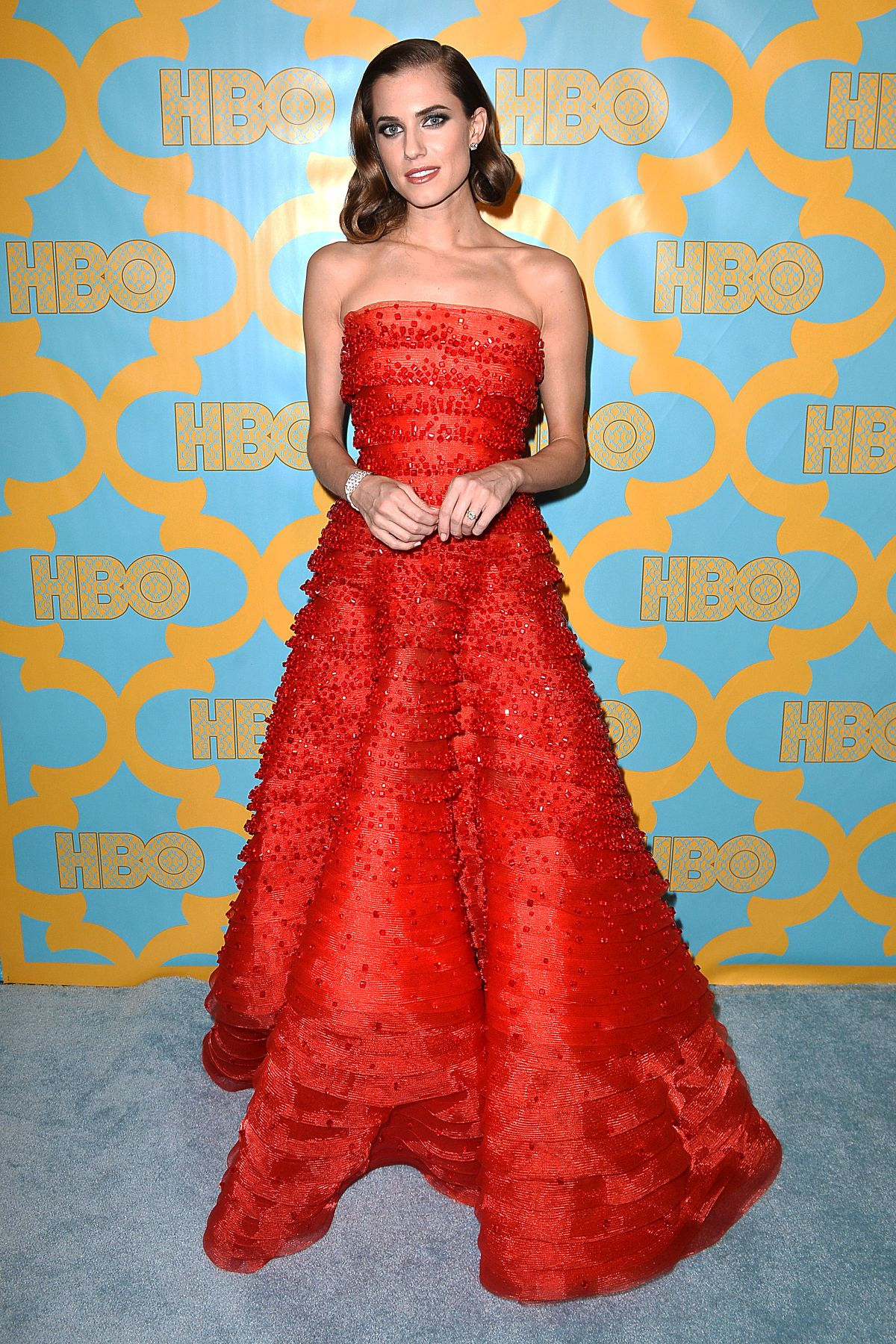 ALLISON WILLIAMS at HBO Golden Globes party in beverly Hills