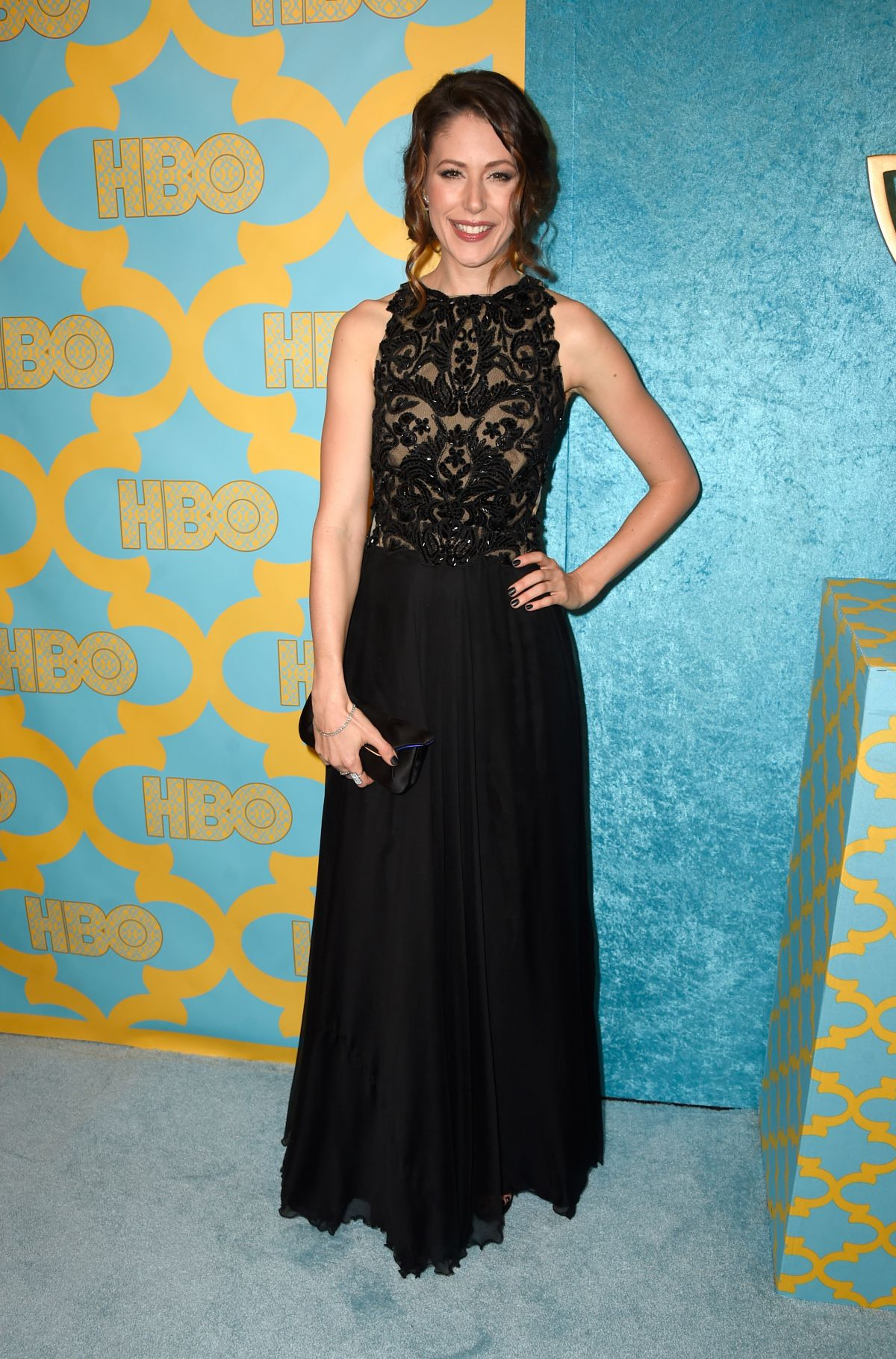 AMANDA CREW at HBO Golden Globes Party in Beverly Hills
