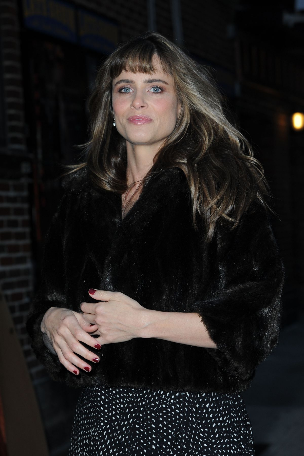 AMANDA PEET Arrives at Late Show with David Letterman