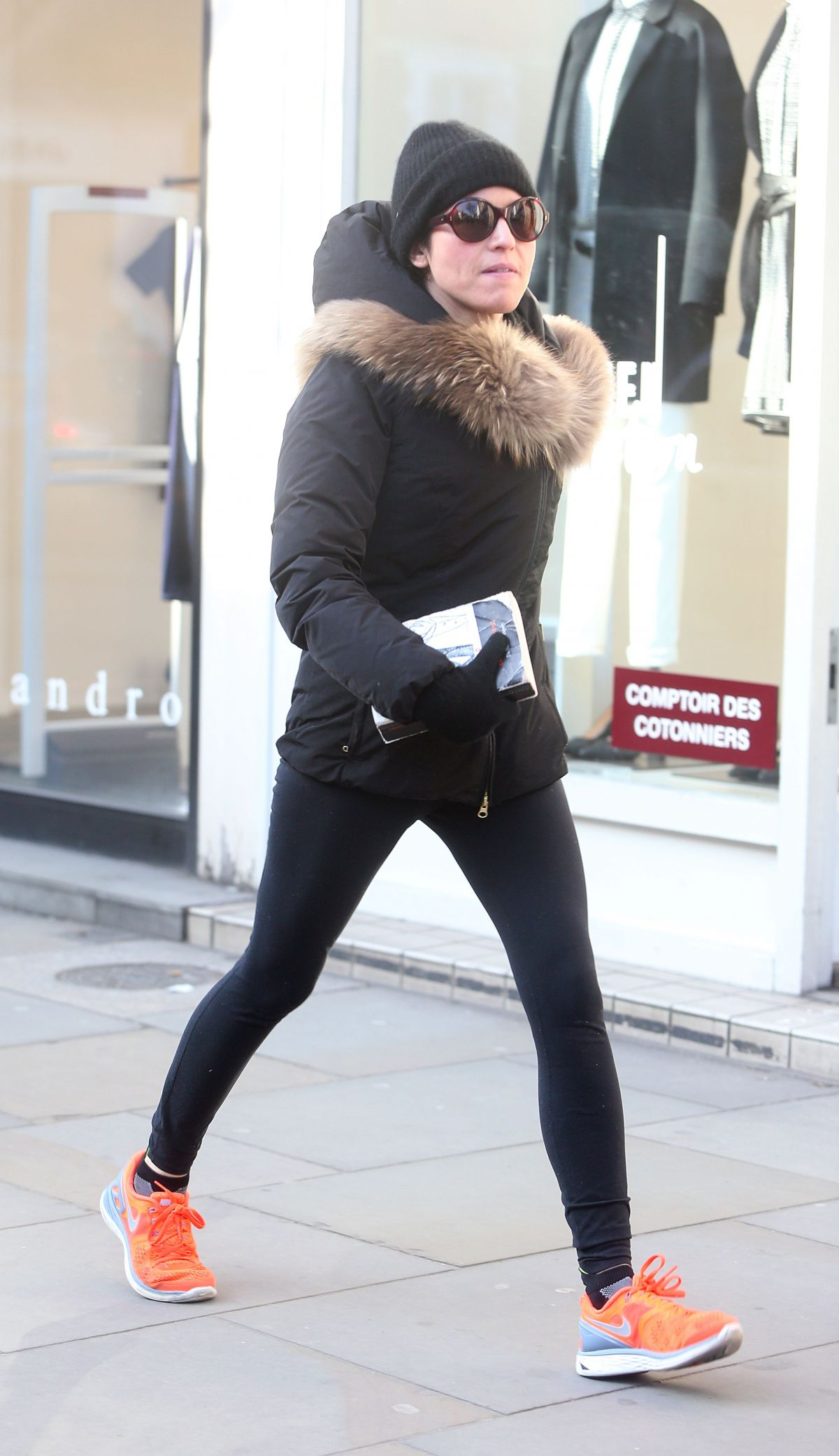 ANDREA CORR in Tights Out and About in London 2601