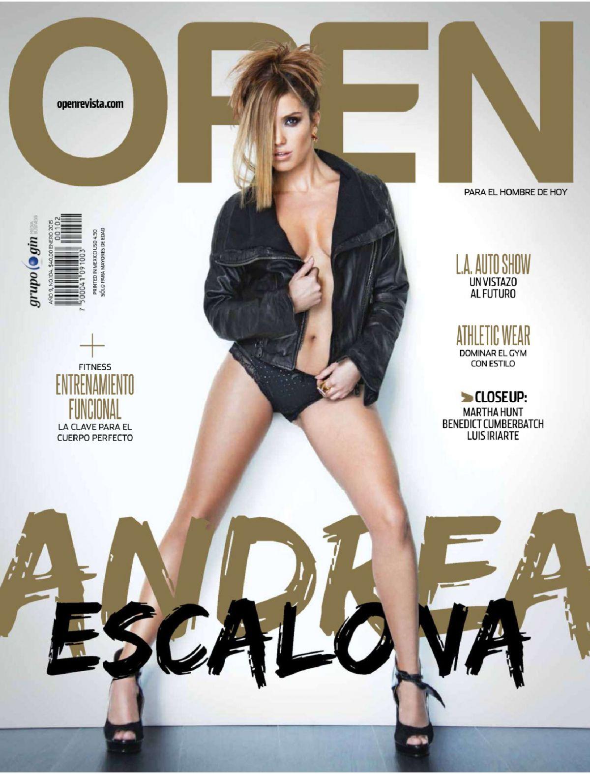 ANDREA ESCALONA in Open Magazine, Mexico January 2015 Issue