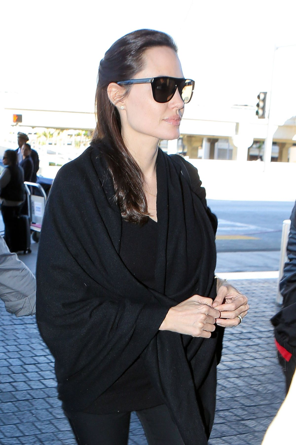 ANGELINA JOLIE at LAX Airport in Los Angeles
