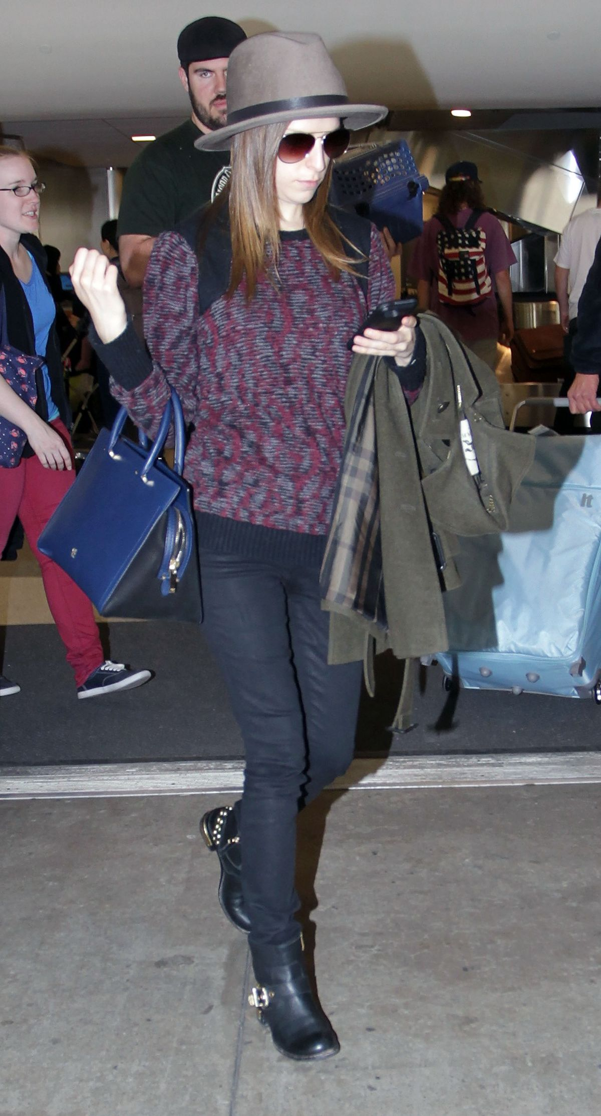 ANNA KENDRICK Arrives at LAX Airport in Los Angeles 0601