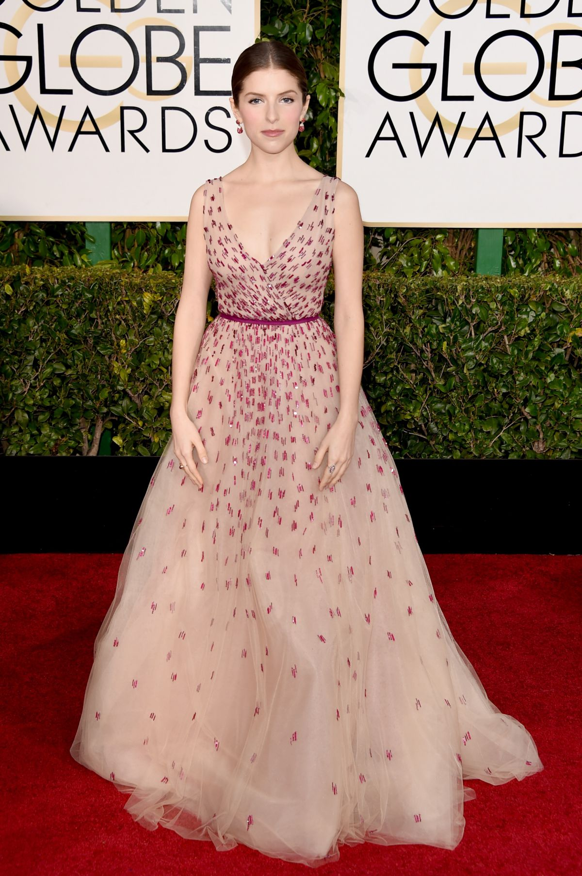 ANNA KENDRICK at 2015 Golden Globe Awards in Beverly Hills