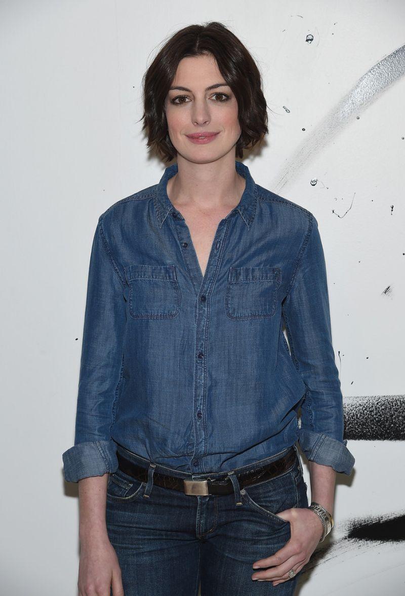 ANNE HATHAWAY at AOL Build Speaker Series in New York ... Anne Hathaway