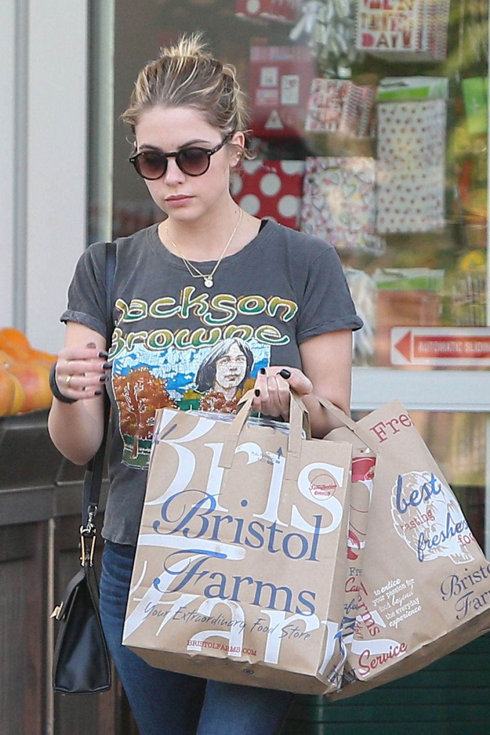 ASHLEY BENSON Shopping at Bristol Farms in Beverly Hills 0801