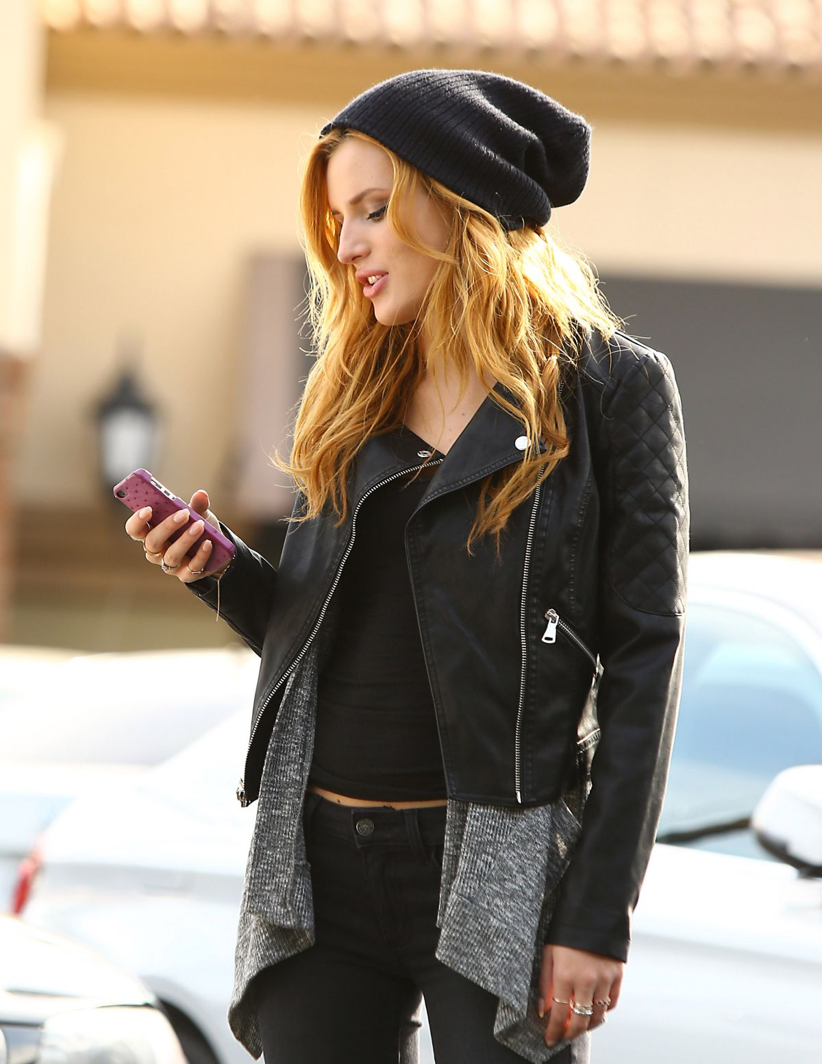 BELLA THORNE Out and About in Los Angeles 1301