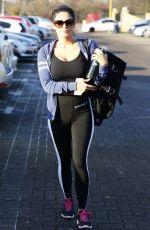 CASEY BATCHELOR in Spandex at a Gym in Essex