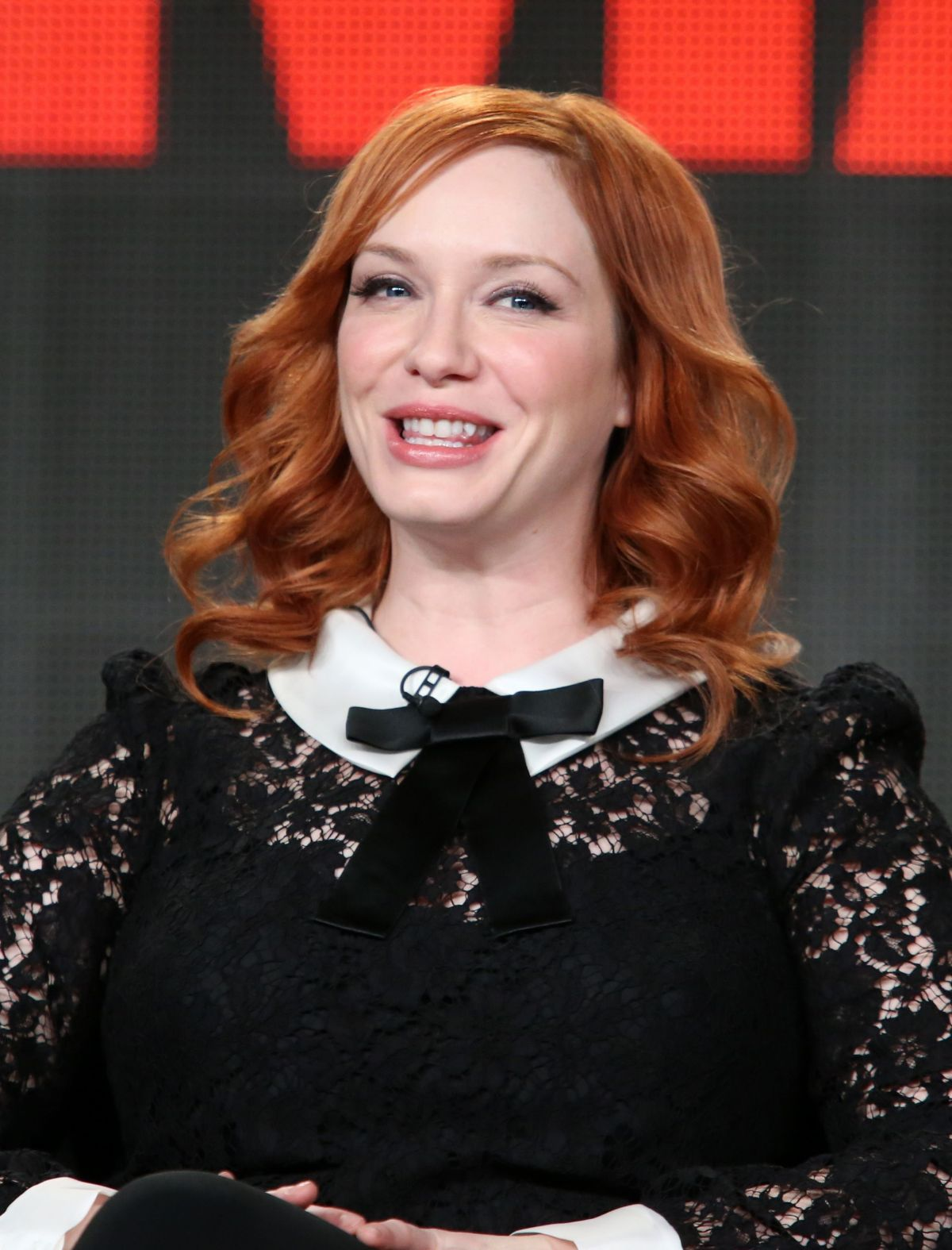 CHRISTINA HENDRICKS at Mad Men Panel TCA Press Tour in Pasadena