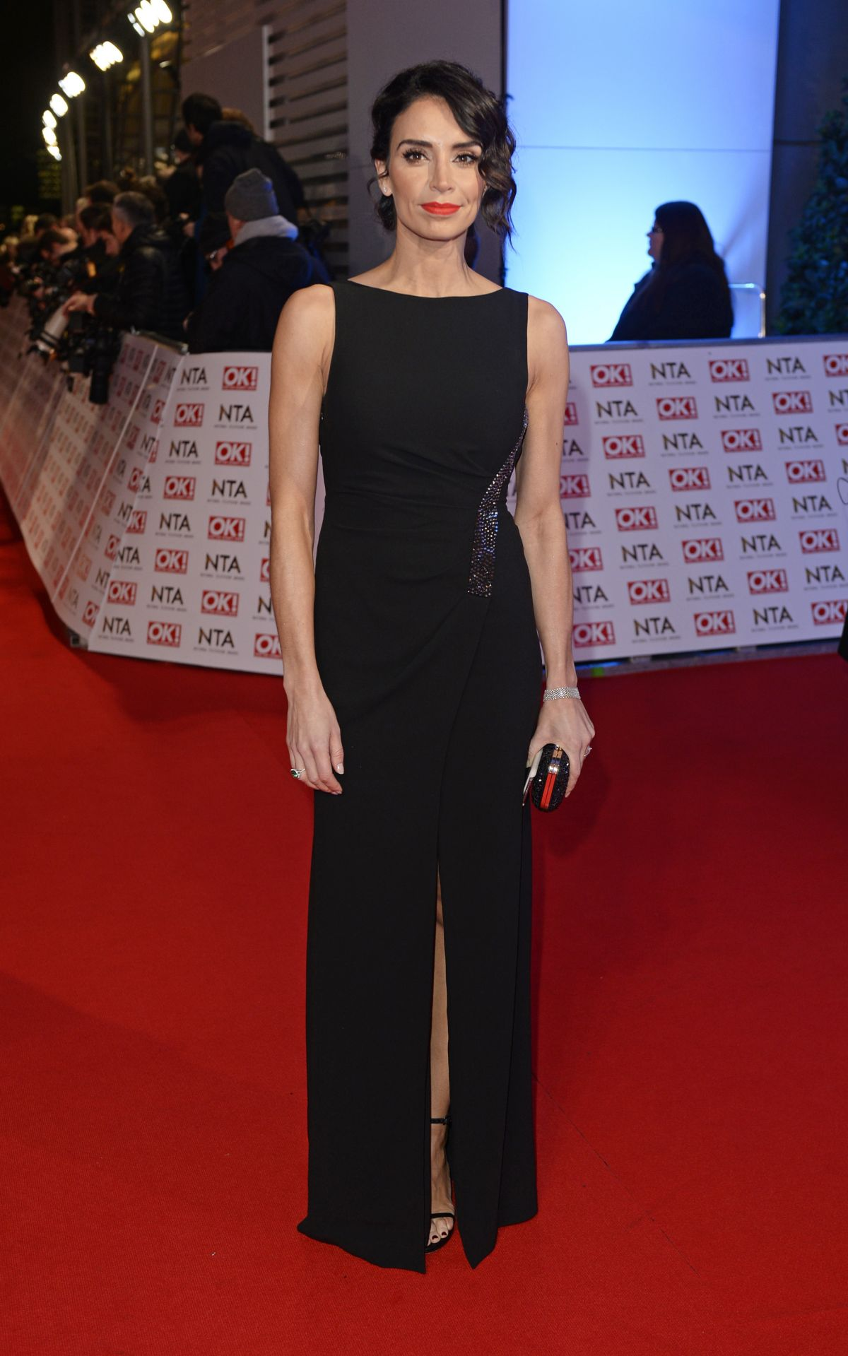 CHRISTINE BLEAKLEY at 2015 National Television Awards in London