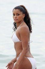 CLAUDIA JORDAN in Bikini at a Beach in Miami